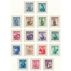 [23] 1948 Österreich Mi 893/926, 978x/980x Regionale Bräuche  ** Perfekter Zustand Briefmarken in perfektem Zustand. (Michel)