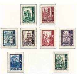 [23] 1948 Österreich Mi 885/892 Wiederaufbau des Salzburger Doms  ** Perfekter Zustand Briefmarken in perfektem Zustand. (Michel