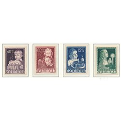 [23] 1949 Austria Sc B260/263 In favor of Infant Works  ** MNH Very Nice Stamps in Perfect Condition. (Scott)