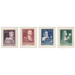 [23] 1949 Österreich Mi 929/932 Für Infant Works  ** Perfekter Zustand Briefmarken in perfektem Zustand. (Michel)
