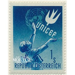 [23] 1949 Austria Sc 559 In Honor of U.N.l.C.E.F.  ** MNH Very Nice Stamps in Perfect Condition. (Scott)