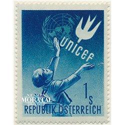 [23] 1949 Österreich Mi 93 Zu Ehren von U.N.l.C.E.F.  ** Perfekter Zustand Briefmarken in perfektem Zustand. (Michel)
