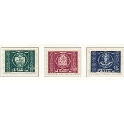 [23] 1949 Austria Sc 565/567 75th Aniv.de the U.P.U.  ** MNH Very Nice Stamps in Perfect Condition. (Scott)