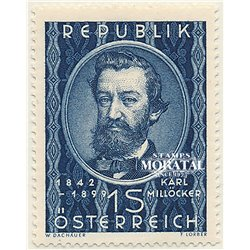 [23] 1949 Austria Sc 562 50th Death of Composer Karl Míllocker  ** MNH Very Nice Stamps in Perfect Condition. (Scott)