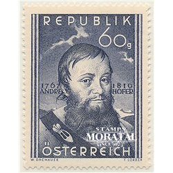 [23] 1950 Austria Sc 570 140th Aniv.de the Death of the Patriot Tyrolean Andreas Hofer  ** MNH Very Nice Stamps in Perfect Condi