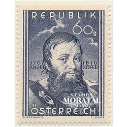 [23] 1950 Österreich Mi 949 140. Aniv.de der Tod des Patrioten Tiroler Andreas Hofer  ** Perfekter Zustand Briefmarken in perfek