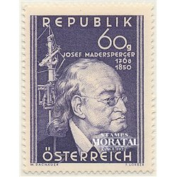 [23] 1950 Austria Sc 571 Centenary of the Death of Josef Madersperger  ** MNH Very Nice Stamps in Perfect Condition. (Scott)