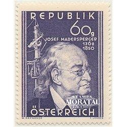 [23] 1950 Österreich Mi 951 100. Todestag von Josef Madersperger  ** Perfekter Zustand Briefmarken in perfektem Zustand. (Michel