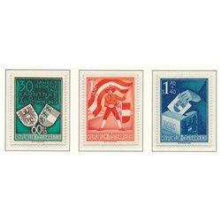 [23] 1950 Österreich Mi 952/954 300 Jahrestag der Volksabstimmung in Kärnten  ** Perfekter Zustand Briefmarken in perfektem Zust