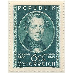 [23] 1951 Austria Sc 574 150th Anniversary of the Birth of Composer Joseph Lanner  ** MNH Very Nice Stamps in Perfect Condition.