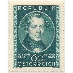 [23] 1951 Österreich Mi 964 150. Geburtstag des Komponisten Joseph Lanner  ** Perfekter Zustand Briefmarken in perfektem Zustand
