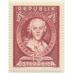 [23] 1951 Österreich Mi 965 150. Tod des Malers Martín Johann Schmidt  ** Perfekter Zustand Briefmarken in perfektem Zustand. (M