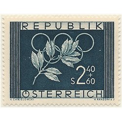 [23] 1952 Austria Sc B277 Oslo and Helsinki Olympics  ** MNH Very Nice Stamps in Perfect Condition. (Scott)