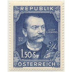 [23] 1952 Austria Sc 579 Centenary of the Birth of the Violinist Josef Schreammel 812.  ** MNH Very Nice Stamps in Perfect Condi