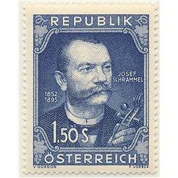 [23] 1952 Österreich Mi 970 100. Geburtstag des Geigers Josef Schreammel 812.  ** Perfekter Zustand Briefmarken in perfektem Zus