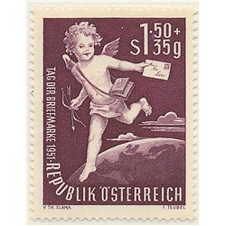 [23] 1952 Austria Sc B278 Stamps Day  ** MNH Very Nice Stamps in Perfect Condition. (Scott)