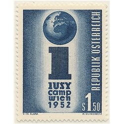 [23] 1952 Austria Sc 581 International Socialist Youth Union Meeting  ** MNH Very Nice Stamps in Perfect Condition. (Scott)