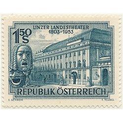 [23] 1953 Österreich Mi 988 150. Jahrestag des Stadttheaters Linz  ** Perfekter Zustand Briefmarken in perfektem Zustand. (Miche