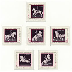 [23] 1972 Austria Sc 929a/929f High School Spanish Riding in Vienna  ** MNH Very Nice Stamps in Perfect Condition. (Scott)