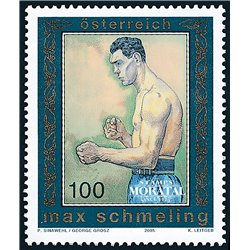 [23] 2005 Austria Sc 1988 Sport. Max Schmeling  ** MNH Very Nice Stamps in Perfect Condition. (Scott)