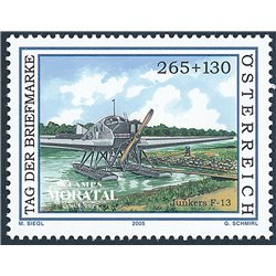 [23] 2005 Austria Sc b375 Junkers F-13 Wasserflugzeug  ** MNH Very Nice Stamps in Perfect Condition. (Scott)