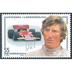 [23] 2005 Austria Sc 2015 Sport. Jochen Rindt  ** MNH Very Nice Stamps in Perfect Condition. (Scott)