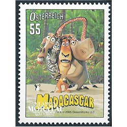 [23] 2005 Austria Sc 2017 DreamWorks. Madagascar  ** MNH Very Nice Stamps in Perfect Condition. (Scott)