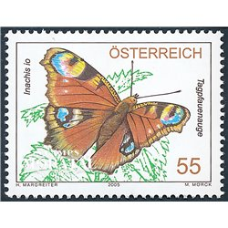 [23] 2005 Austria Sc 2018 Inachis Io Butterfly  ** MNH Very Nice Stamps in Perfect Condition. (Scott)