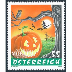 [23] 2005 Austria Sc 2021 Halloween  ** MNH Very Nice Stamps in Perfect Condition. (Scott)