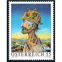 """[23] 2005 Austria Sc 2025 Carl Hodina """"Waldmeister""""  ** MNH Very Nice Stamps in Perfect Condition. (Scott)"""