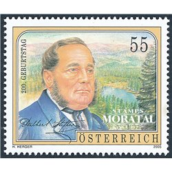 [23] 2005 Austria Sc 2026 Adalbert Stifter  ** MNH Very Nice Stamps in Perfect Condition. (Scott)