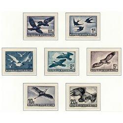 [23] 1950 Österreich Mi 955/956, 968x, 984/987 Fauna Vögel  * Falz Guter Zustand Briefmarken in perfektem Zustand. (Michel)