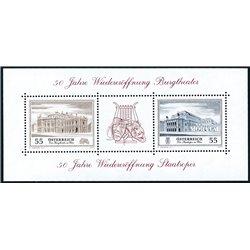 [23] 2005 Österreich Mi BL-30 Nationales Opernhaus  ** Perfekter Zustand Briefmarken in perfektem Zustand. (Michel)