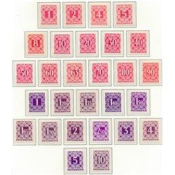 [23] 1950 Austria Sc J-232/259   ** MNH Very Nice Stamps in Perfect Condition. (Scott)