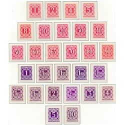 [23] 1950 Österreich Mi P-232/259   ** Perfekter Zustand Briefmarken in perfektem Zustand. (Michel)