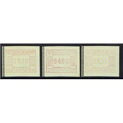 [23] 1983 Österreich Mi ATM-1 Automatenmarken  ** Perfekter Zustand Briefmarken in perfektem Zustand. (Michel)