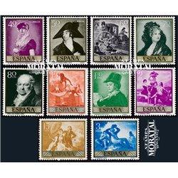 1958 Espagne 901/910  Goya Peinture **MNH TTB Très Beau  (Yvert&Tellier)