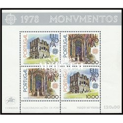 [10] 1978 Portugal  Sc# 1391a Europa. Jeronimos Monastery in Belem  ** MNH Very Nice Stamps in Perfect Condition. (Scott)