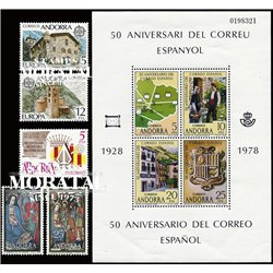 [21] 1978 Spanish Andorra  Year Set Complete **MNH LUXURY   Stamps in Perfect Condition. LUXE ()