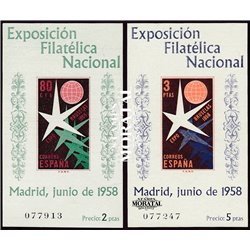 1958 Spain  Sc 877a/878a Sheets Brussels Europe **MNH Very Nice, Mint Hever Hinged?  (Scott)