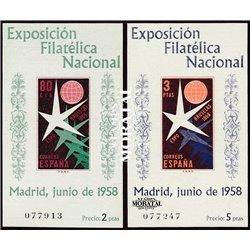 1958 Espagne BF-19/20 BF Bruxelles Organismes **MNH TTB Très Beau  (Yvert&Tellier)