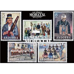 [24] 1972 Spanish Andorra Sc 69/70, 72/74 Traditions  ** MNH Very Nice Stamps in Perfect Condition. (Scott)