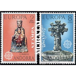 [24] 1974 Spanish Andorra Sc 79/80 Europe  ** MNH Very Nice Stamps in Perfect Condition. (Scott)