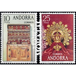 [24] 1974 Spanish Andorra Sc 81/82 Crafts  ** MNH Very Nice Stamps in Perfect Condition. (Scott)