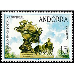 [24] 1974 Spanish Andorra Sc 83 UPU  ** MNH Very Nice Stamps in Perfect Condition. (Scott)