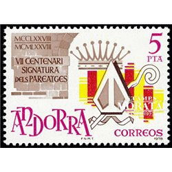 [24] 1978 Spanish Andorra Sc 105 Pereage  ** MNH Very Nice Stamps in Perfect Condition. (Scott)
