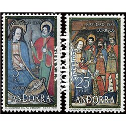 [24] 1978 Spanish Andorra Sc 106/107 Christmas  ** MNH Very Nice Stamps in Perfect Condition. (Scott)