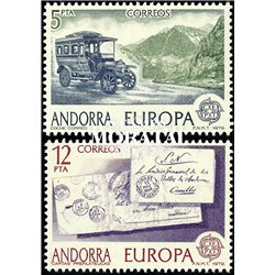[24] 1979 Spanish Andorra Sc 111/112 Europe  ** MNH Very Nice Stamps in Perfect Condition. (Scott)