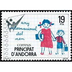[24] 1979 Spanish Andorra Sc 113 Year of the Child  ** MNH Very Nice Stamps in Perfect Condition. (Scott)