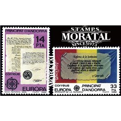 [24] 1982 Spanish Andorra Sc 143/144 Europe  ** MNH Very Nice Stamps in Perfect Condition. (Scott)